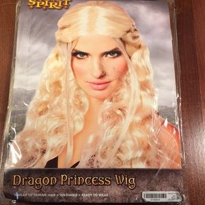 Dragon princess wig queen costume adult new